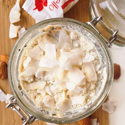 Porridge froid et protéiné façon Raffaello
