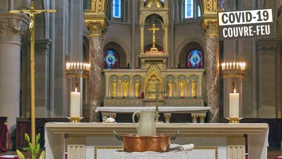 Accueil dans l'église Saint-Ambroise