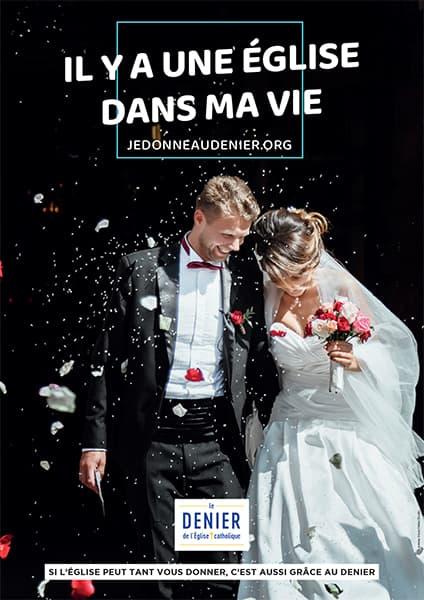 Affiche du Denier 2021, Mariage
