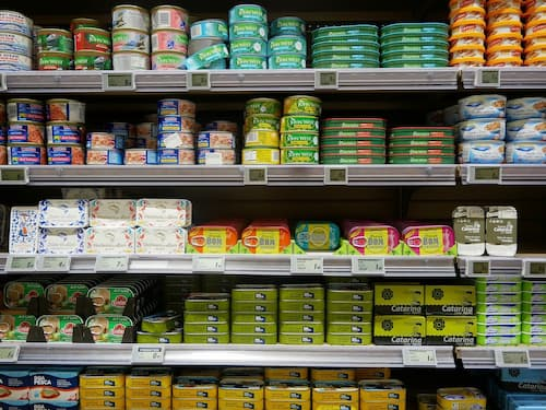 Collecte produits alimentaires rayon