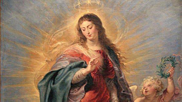 L'Immaculée Conception, peinture de la Vierge