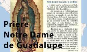 Prière Notre-Dame de Guadalupe
