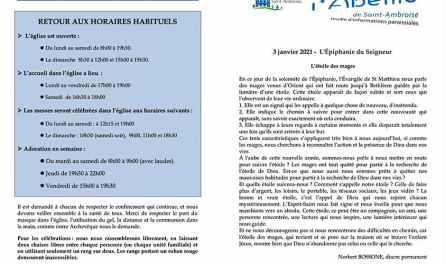 Feuille paroissiale n° 49 du 3 janvier 2021
