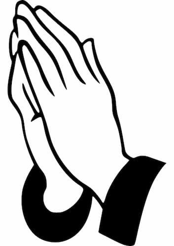mains jointes prière