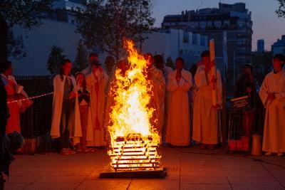 samedi saint feu pascal