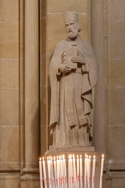 Saint Ambroise avec cierge