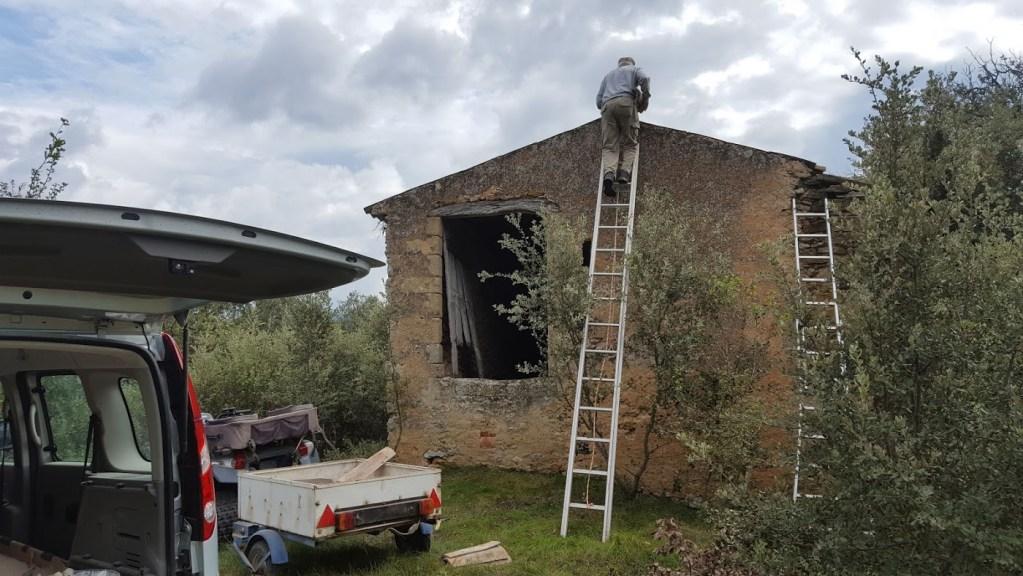 Les travaux de restauration de la Porquetière vont se concentrer sur la face nord du bâtiment.