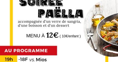Samedi 9 mars : Soirée paella para Barcelona