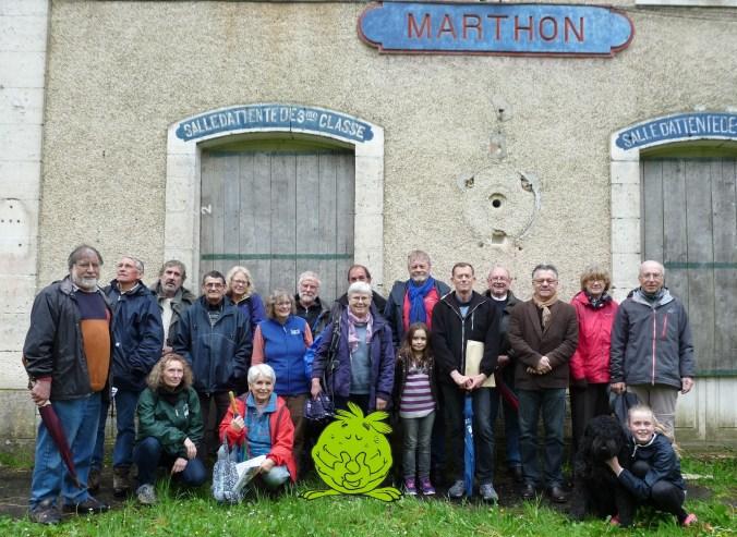 Le C.D.D en réunion à la gare de Marthon pour la future voie verte