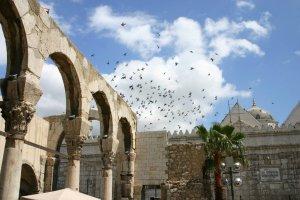 Portique de l'époque romaine à Damas