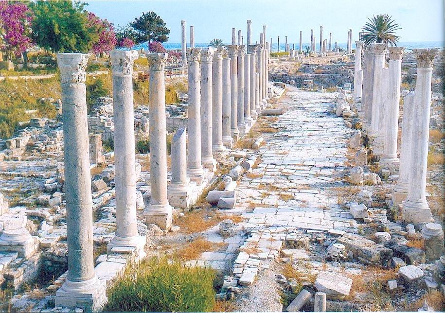 La ville de Tyr, au sud Liban