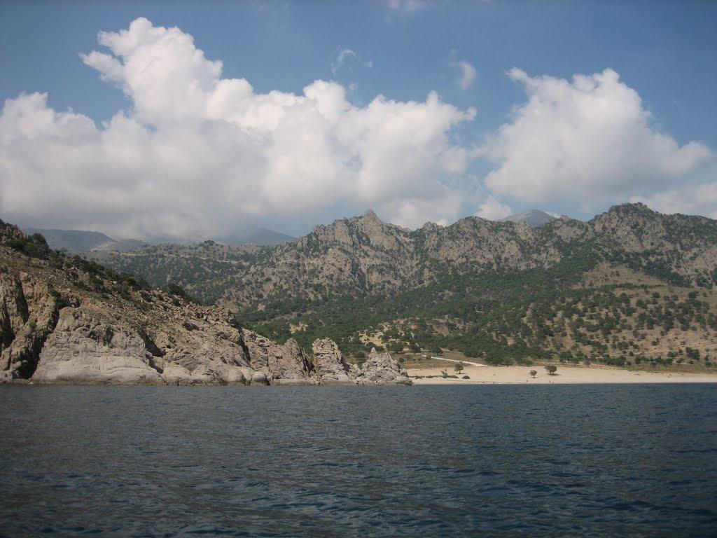 La côte sud de l'île