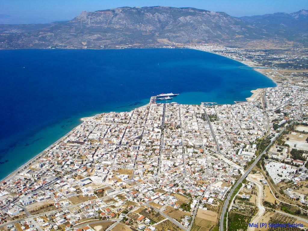 La ville moderne de Corinthe
