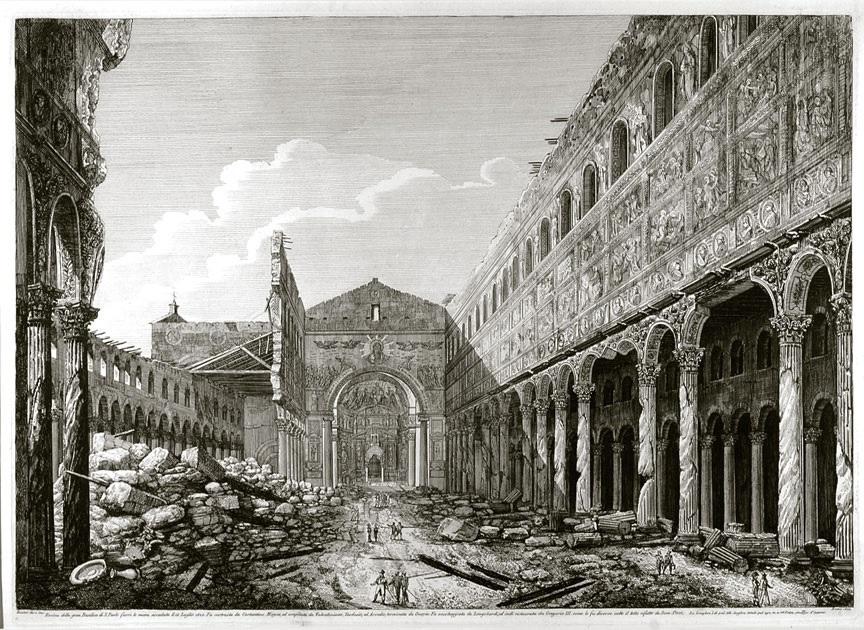 9. La basilique après l'incendie de 1823.