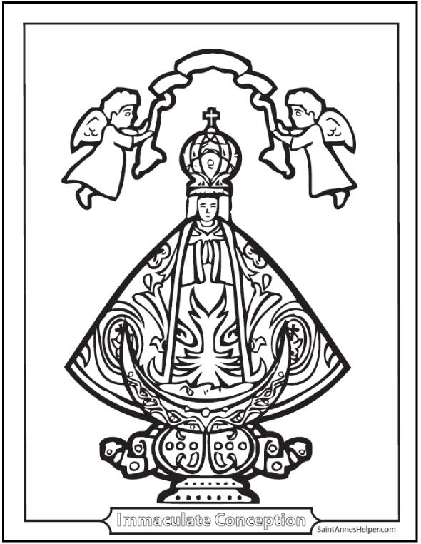 Free Catholic Coloring Pages : catholic, coloring, pages, Catholic, Coloring, Pages:, Sacraments,, Rosary,, Saints