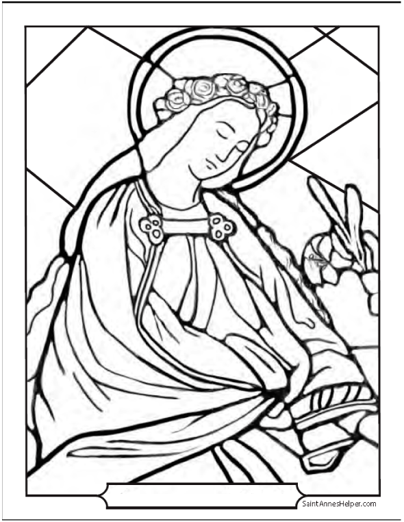 Catholic Saints Coloring Pages : catholic, saints, coloring, pages, Catholic, Saint, Coloring, Pages