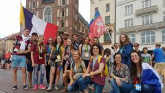 Le groupe à l'arrivée à Cracovie