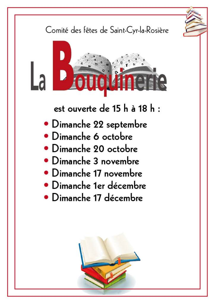 calendrier bouquinerie