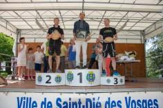 Le podium du 55 km