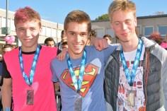 Antonin Culot (au centre) a remporté le cross.