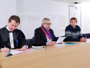 Jean-Noël Bleirad (au centre) était président pour l'exercice 2019.