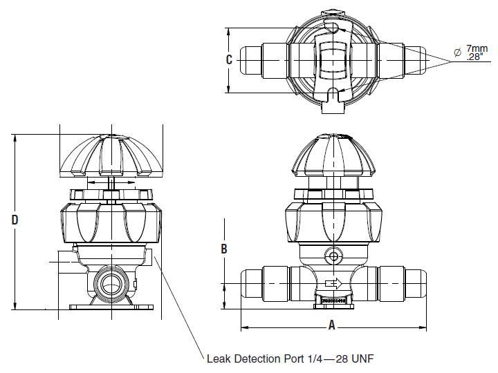 Item # QV2-144-MT, Furon® Manually Actuated Multi-Turn, 2