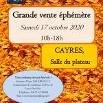 thumbnail of affiche vente éphémère Emmaus 43 17 octobre 2020