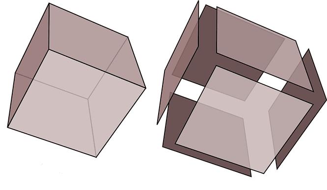 Luas permukaan kubus