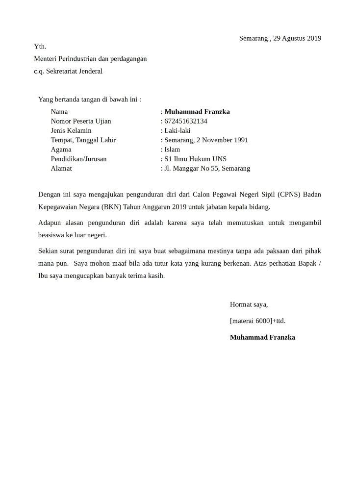 59 Contoh Surat Lamaran Kerja Di Sekolah Yayasan Islam