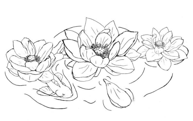 15 Gambar Sketsa Wajah Pemandangan Bunga Lengkap