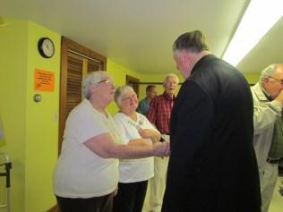 Mary & Nancy Meet the Bishop