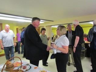 Gina Talks Parish Life With Bishop