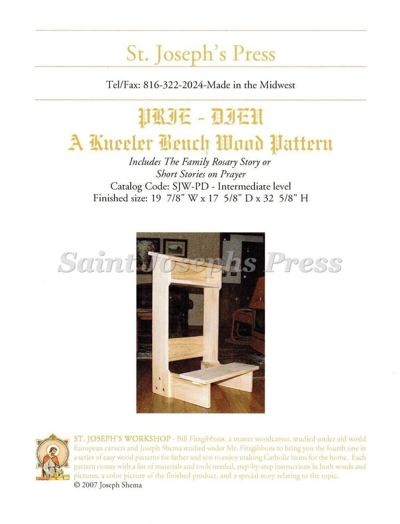 Prayer Kneeler Plans Free