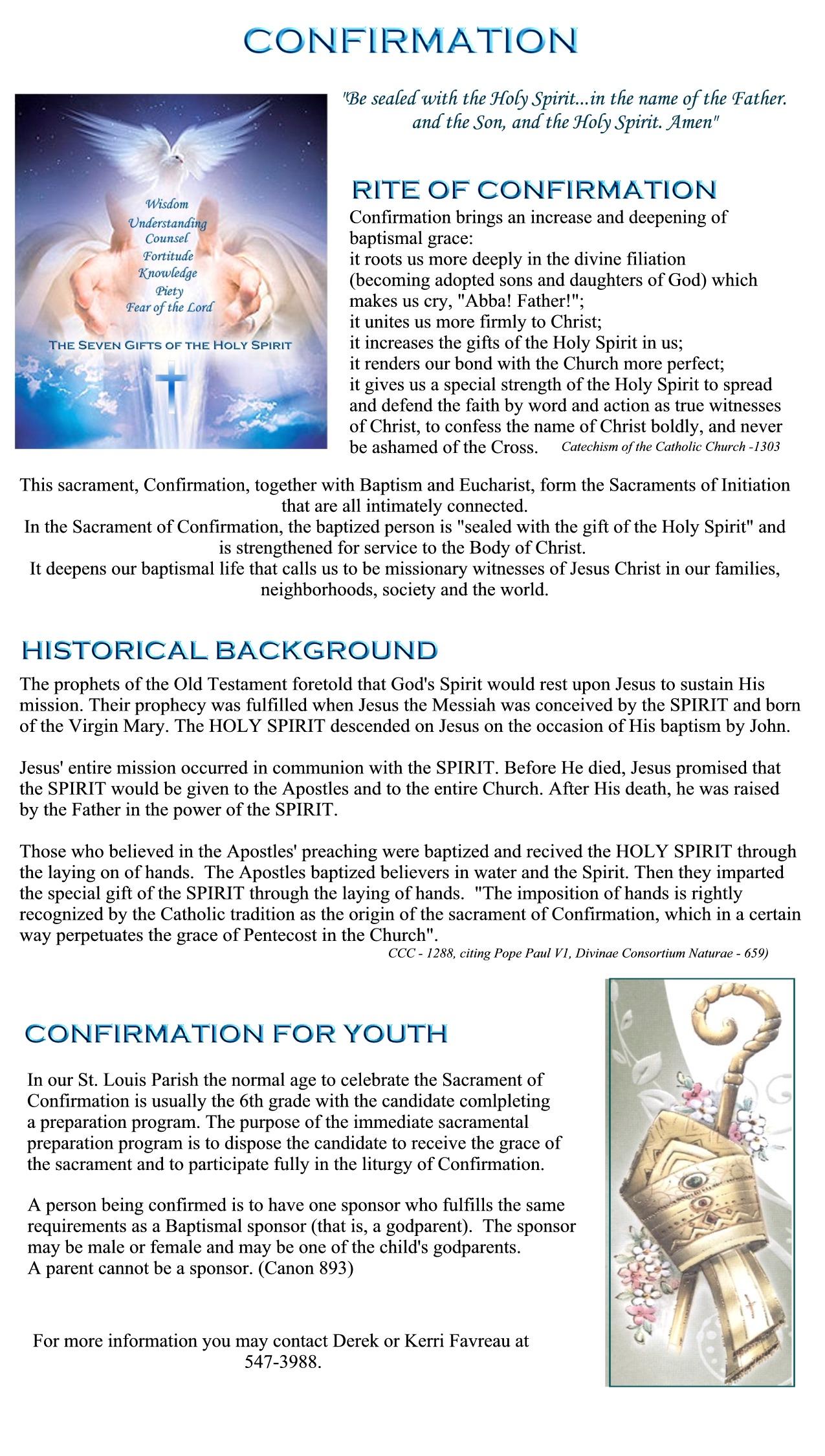 Confirmation Saint Louis Church