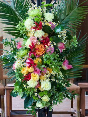 Spray of Flowers on the Paschal Candle Stand