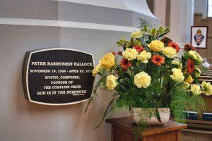 Flowers in memory of Dr. Peter Hallock