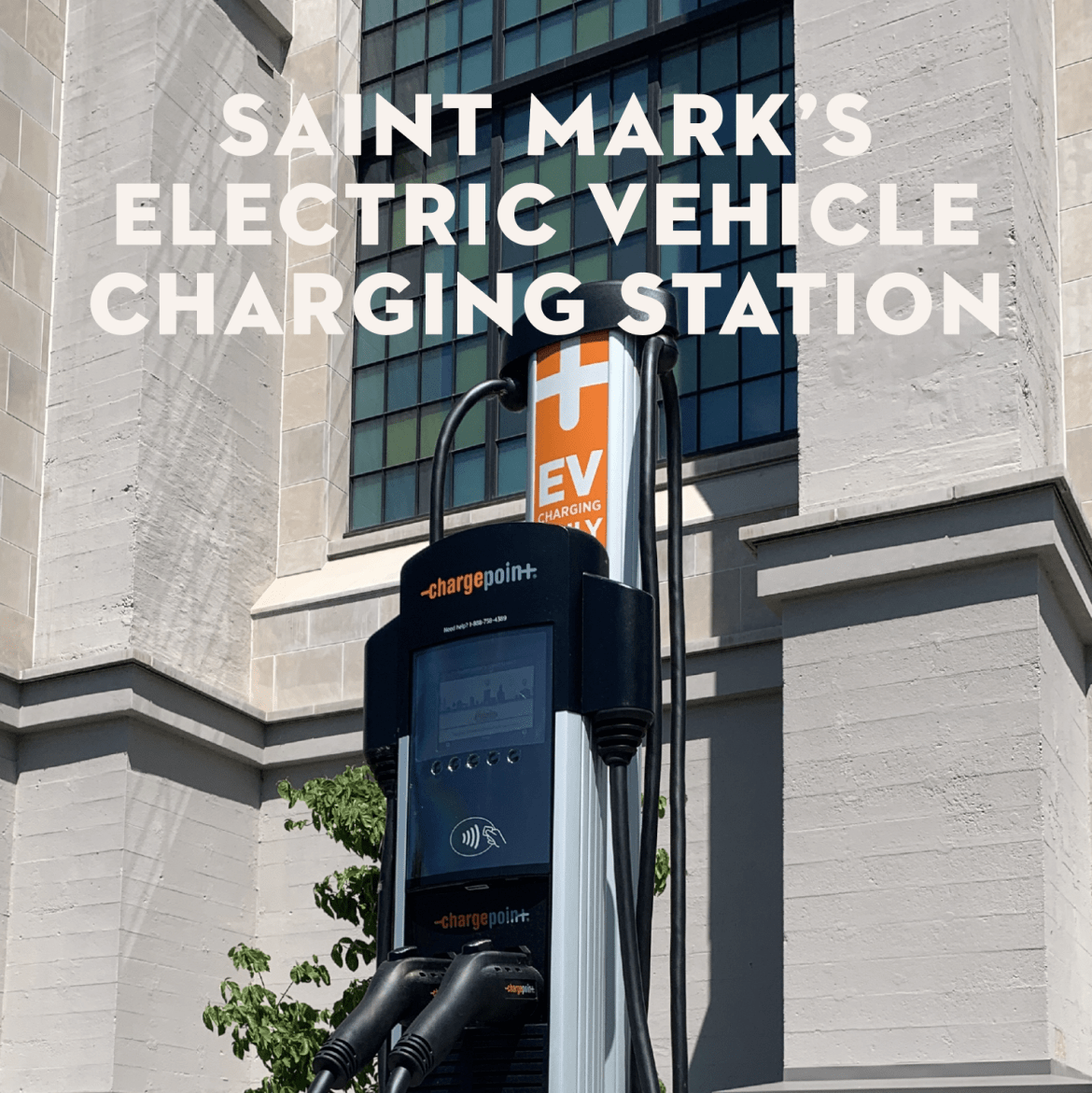Dedication of the Cathedral's new Electric Vehicle Charging Station