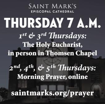 Thursday Morning Eucharist Returns to Thomsen Chapel