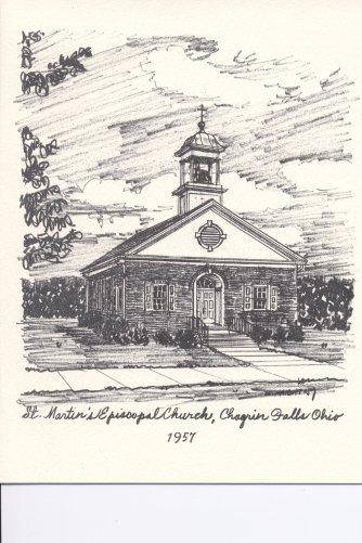 St. Martins 1957 Drawing