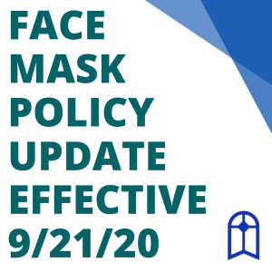 IMPORTANT CLINIC MESSAGE & FACE MASK POLICY UPDATE