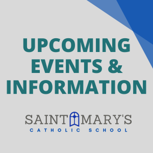 Important Upcoming Dates & Information