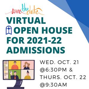 Virtual Open House: 2021 – 2022 Admissions Preview