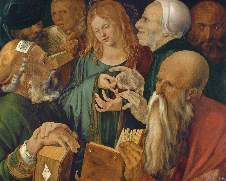 Albrecht Dürer, Jésus avec les docteurs de la loi, Museo Thyssen-Bornemisza, Madrif