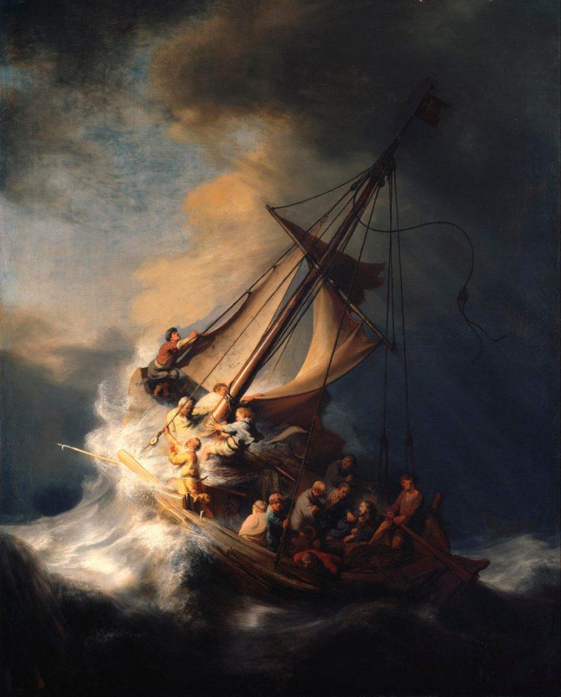 Rembrandt, Le Christ dans la tempête sur la mer de Galilée, 1633, Musée I. Stewart Gardner, Boston