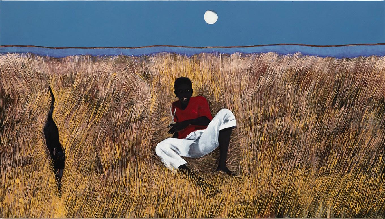 Antonio Oba Sesta, 2019 Huile sur toile / Oil on canvas 170 × 300 cm (c) Antonio Oba Courtesy de l'artiste et Mendes Wood DM Photo Bruno Leão