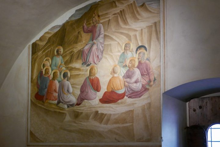 Fra' Angelico-le-sermon sur la montagne-fresque-San-Marco-Florence-1438-40 env