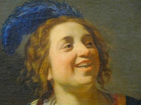 Gerritt van Hontorst-femme-luth-Fontainebleau