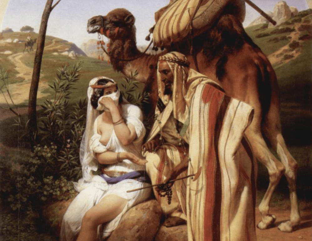 Horace Vernet, Juda et Tamar, 1840, Wallace Collection, Londres (détail)