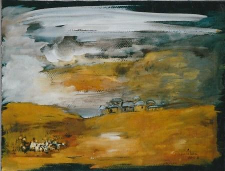 Un ciel plein d'images gouache 2003