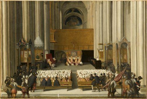Le Concile de Trente (vingt-troisième session, 15 juillet 1563,  dans la nef centrale de la cathédrale San Vigilio de Trente)